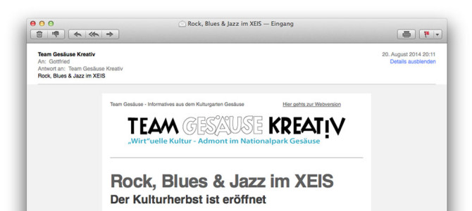 Newsletter – Rock, Blues & Jazz im XEIS